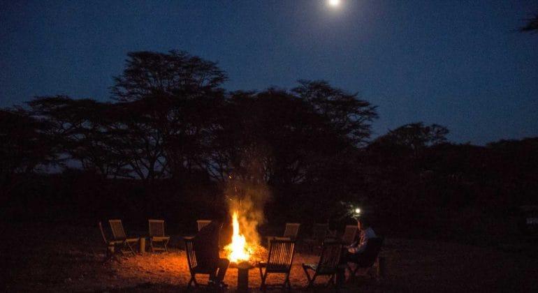 Porini Cheetah Camp Campfire