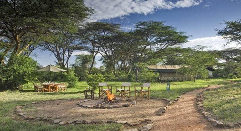 Porini Mara Camp - Camp fire