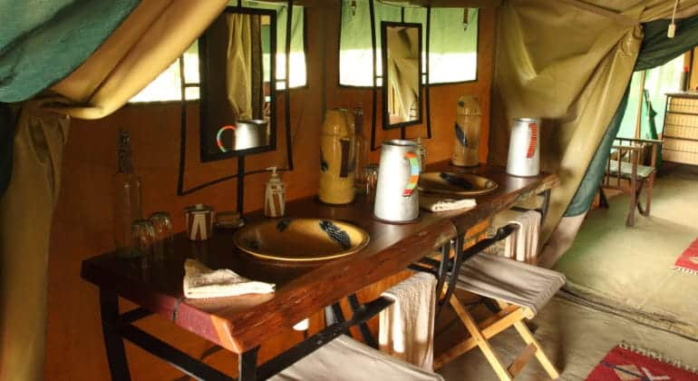 Rekero Camp Washbasin
