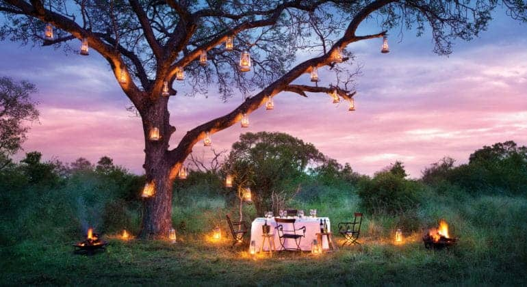Tinga Lodge Bush Dinner