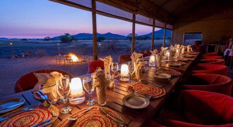 Desert Rhino Camp Dining