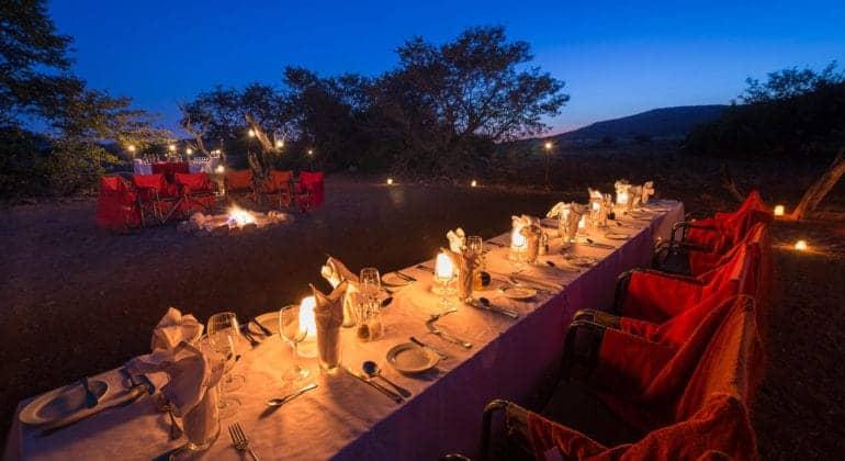 Desert Rhino Camp Outdoor Dining