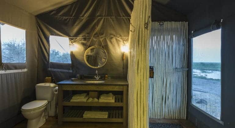 Linyanti Tented Camp Bathroom
