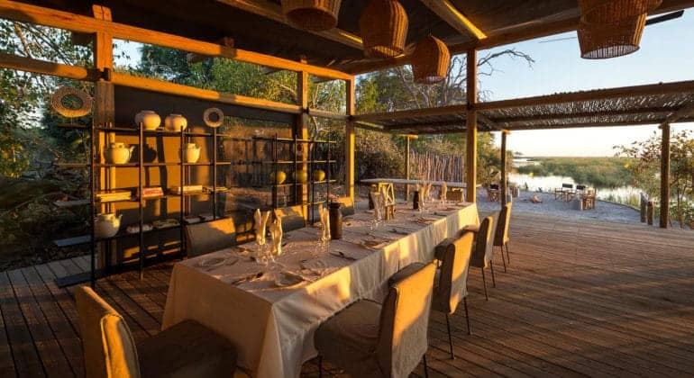 Linyanti Tented Camp Dining