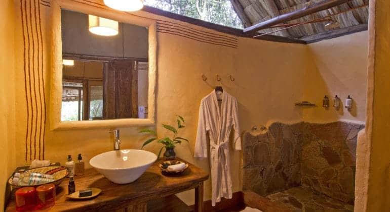 Sanctuary Gorilla Forest Camp Bathroom