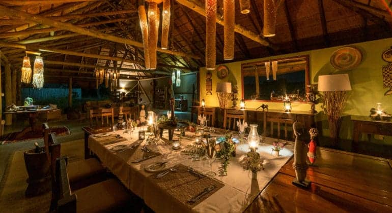 Camp Hwange Dining