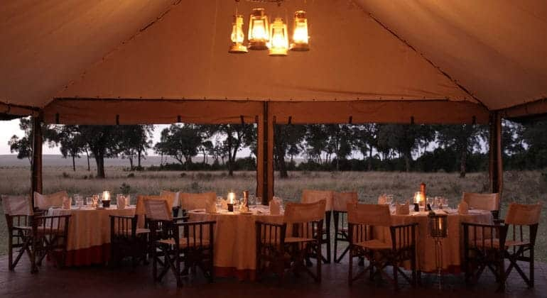 Governors' Camp Dining Area