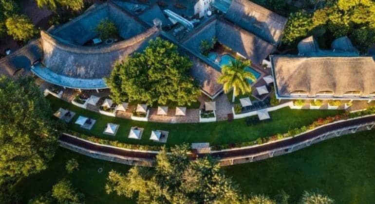 Ilala Lodge Aerial View