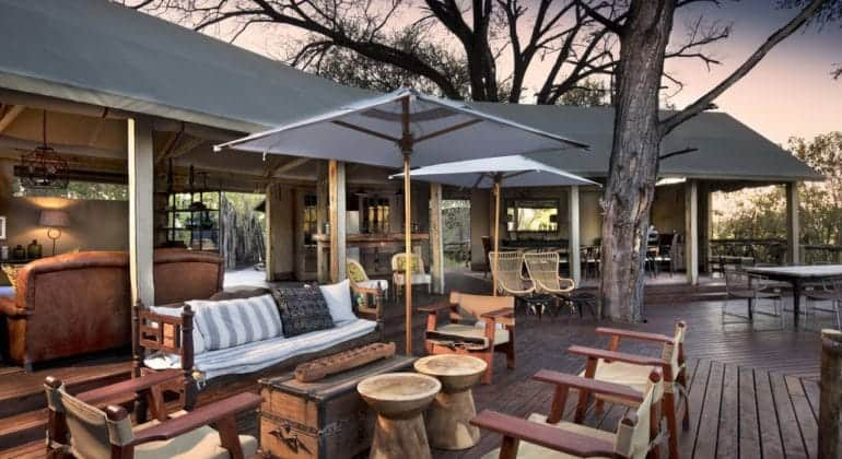 Khwai Tented Camp Outdoor Lounge