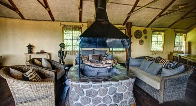Mount Gahinga Lodge Lounge