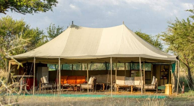 Ndutu Wilderness Camp Lounge