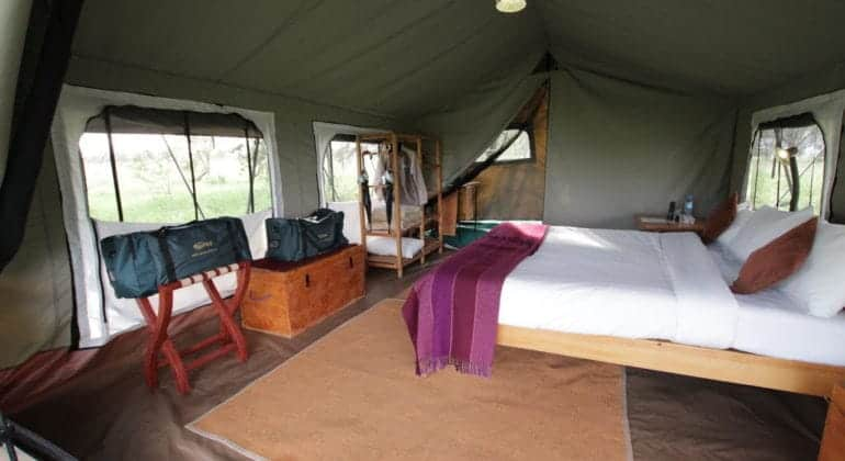 Ndutu Wilderness Camp Tent Interior