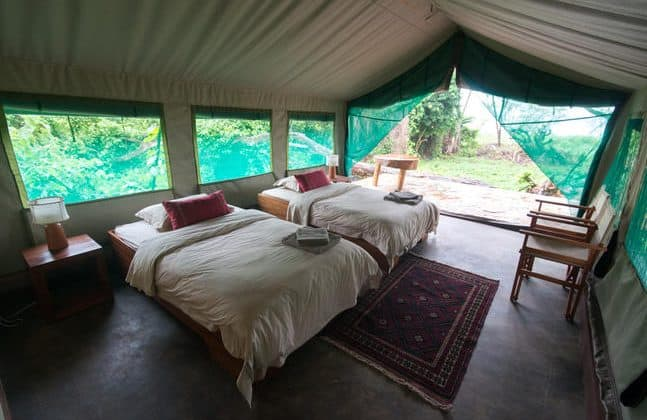 Ruzizi Tented Camp Bedroom