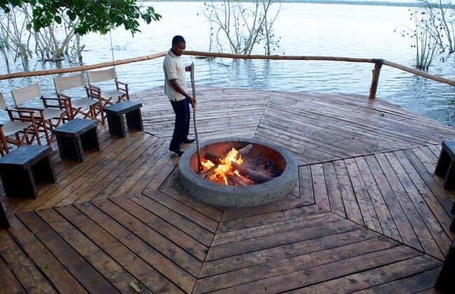 Ruzizi Tented Camp Fireplace