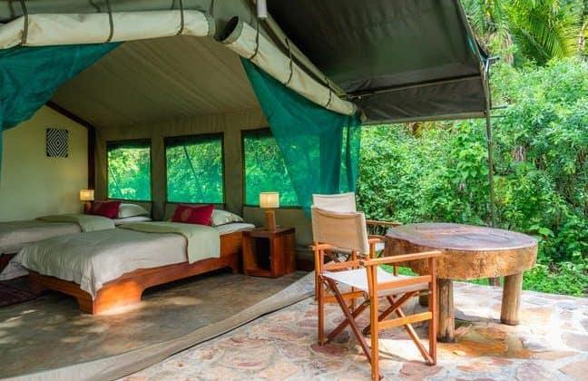 Ruzizi Tented Camp Tent View