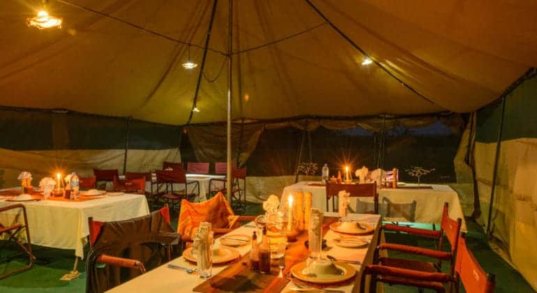 Serengeti Wilderness Camp Dining