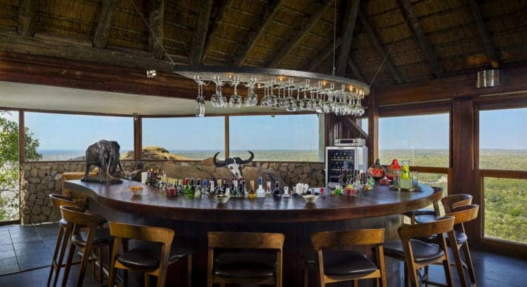 Ulusaba Rock Lodge Bar