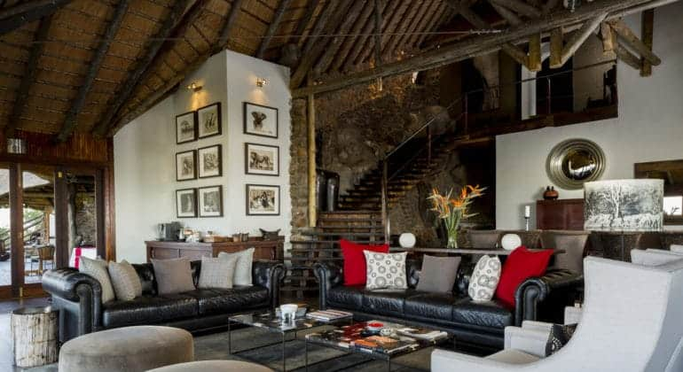 Ulusaba Rock Lodge Lounge