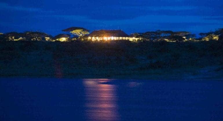 Lake Masek Tented Camp View At Night