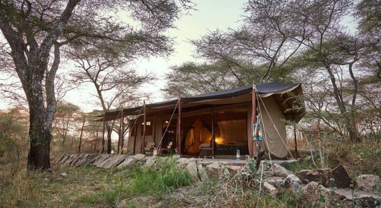 Mbono Tented Camp Tent View