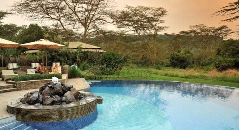 Lake Elmenteita Serena Camp Poolside