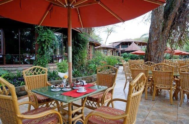 Lake Naivasha Sopa Lodge Outdoor Dining