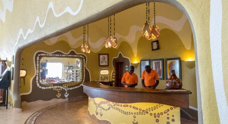 Mara Serena Safari Lodge Reception Area