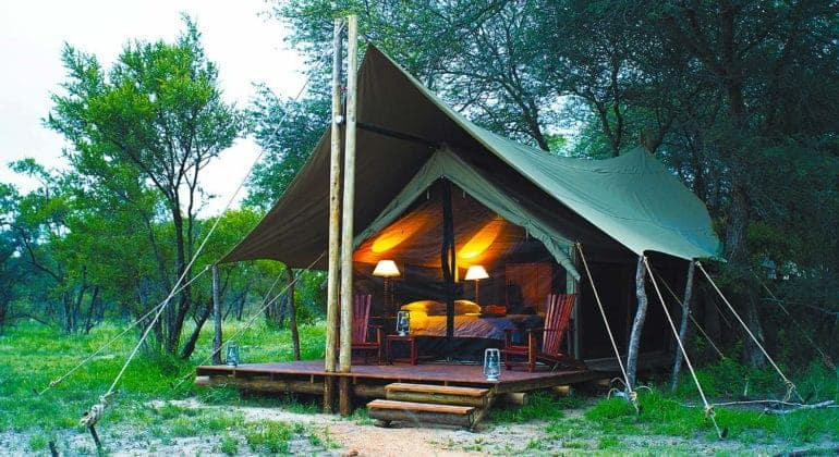 Rhino Walking Safari Tent Exterior