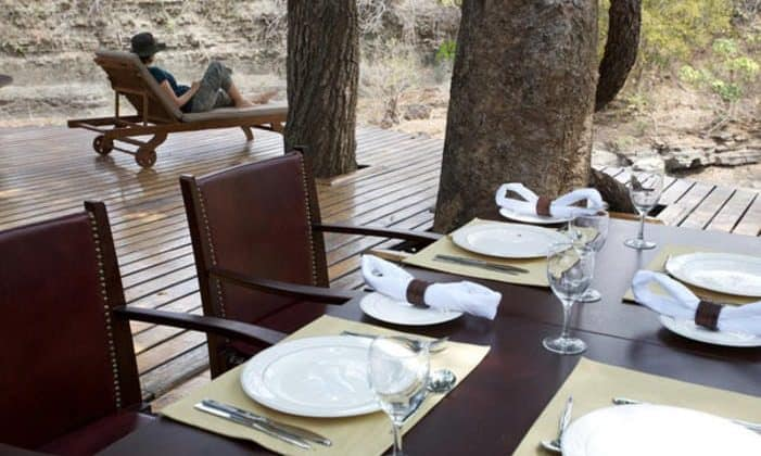 Selous Serena Camp Outdoor Dining