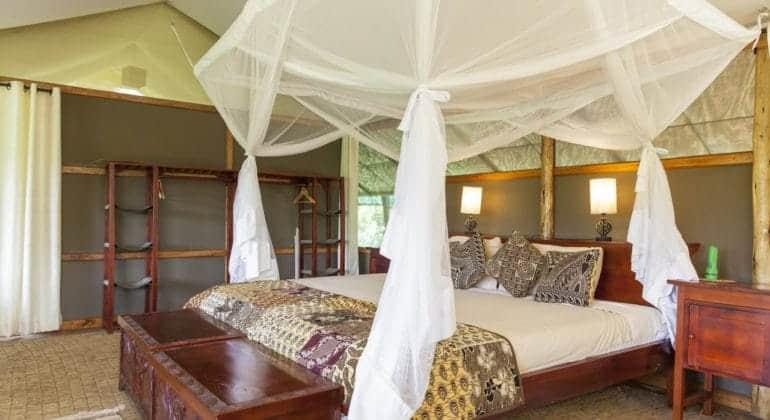 Ishasha Wilderness Camp Bedroom