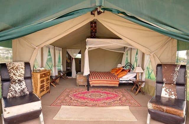 Nasikia Mobile Migration Camp Tent Interior