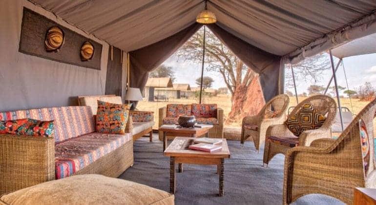 Tarangire Ndovu Camp Lounge 1