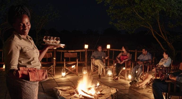 Belmond Savute Elephant Lodge Campfire