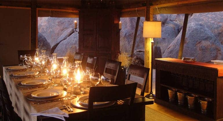 Boulders Safari Camp Dining