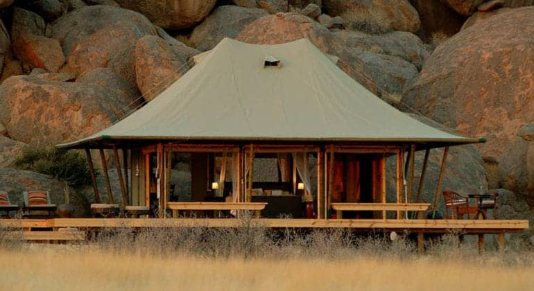Boulders Safari Camp Tent View