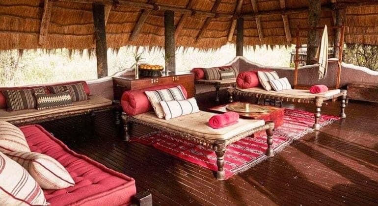 Camp Kalahari Pool Tent Interior