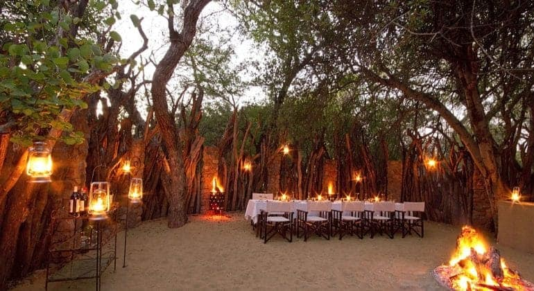 Dulini Lodge Outdoor Dining