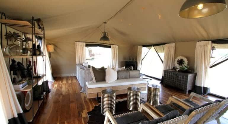 Siringit Serengeti Camp Lounge Tent 1