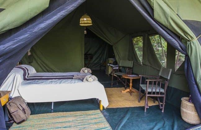 Bukima Tented Camp Tent Interior