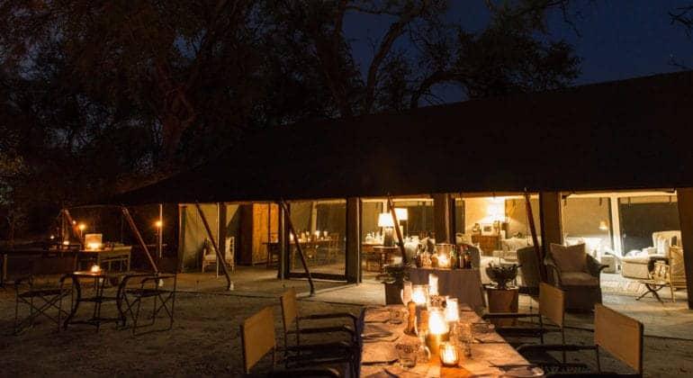 Machaba Camp Dining