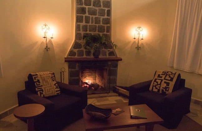 Mikeno Lodge Fireplace