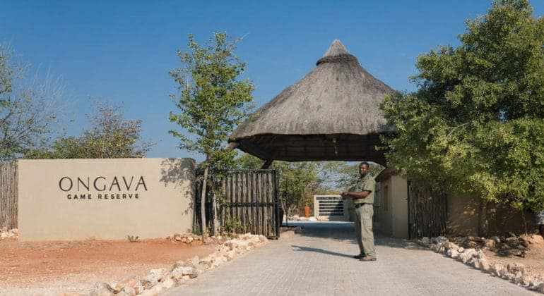Ongava Tented Camp Entrance