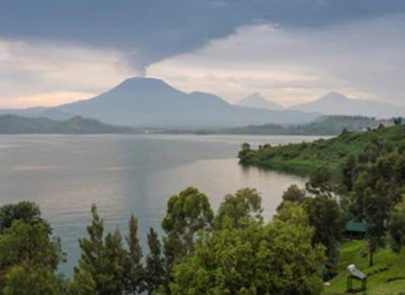 Tchegera Island Camp Volcano View