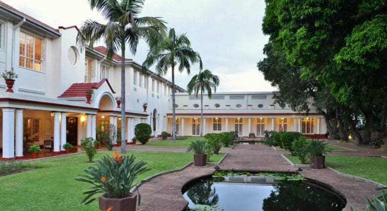 The Victoria Falls Hotel Entrance