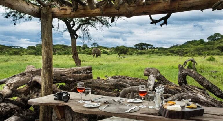 Ol Donyo Lodge Lunch Layout