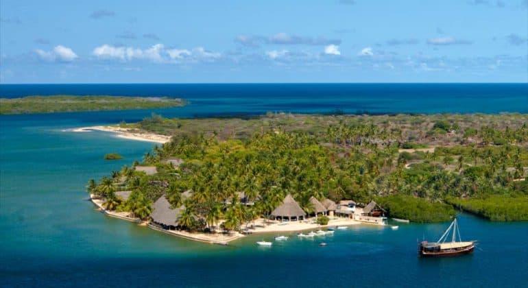 Manda Bay Aerial View