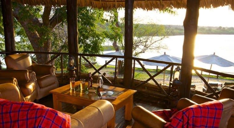 Rufiji River Camp Sitting Area