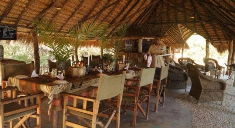 Mayukuyuku Bush Camp Dining