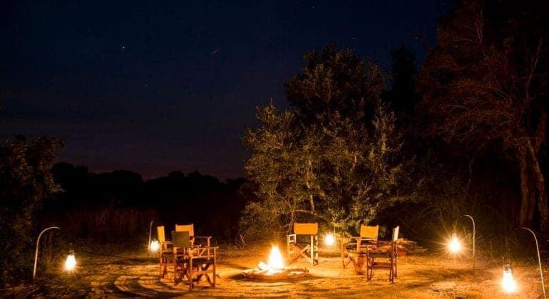 Musekese Camp Campfire At Night