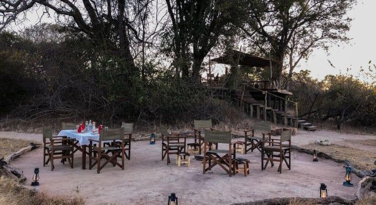 Ntemwa Busanga Camp Campfire